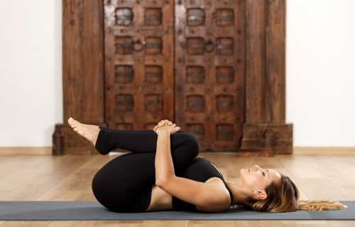 Apanasana Or Wind Relieving Pose
