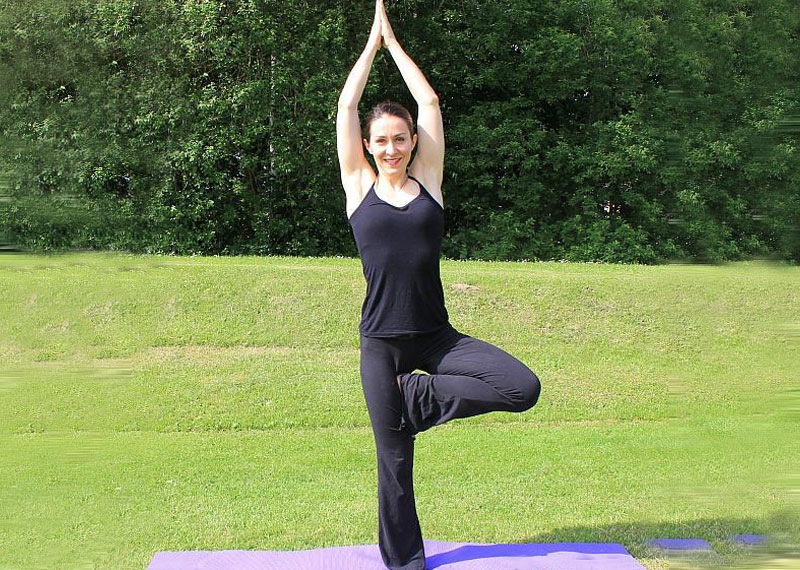 VRIKSHASANA also known as The Tree Pose