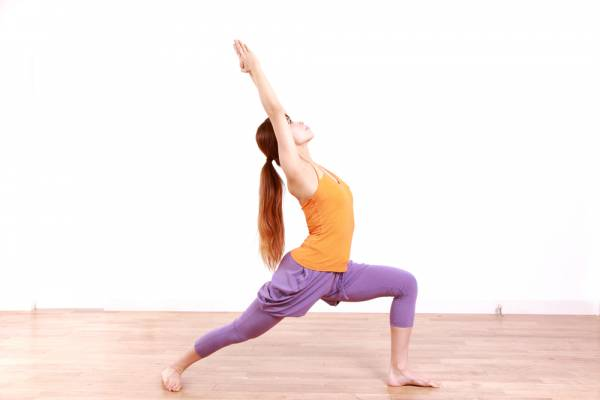 Step by Step instructions of the Virabhadrasana I pose