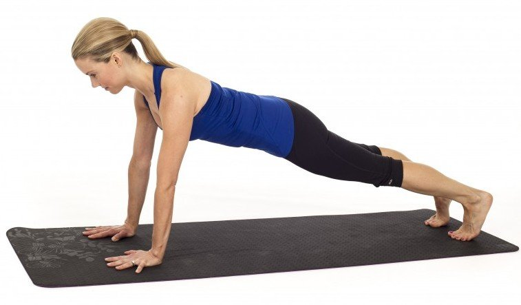 Straight or High Plank