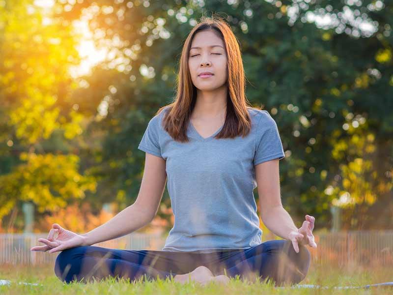 Sukhasana (सुखासन) or the Easy Pose