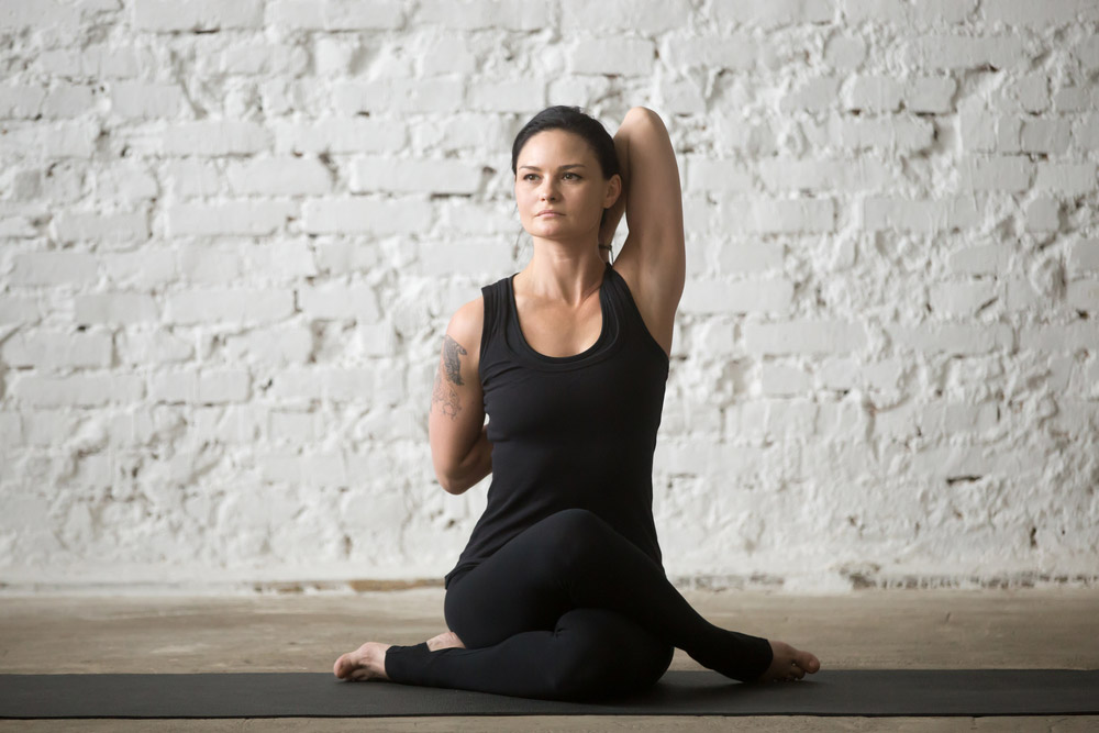 Gomukhasana Or Cow Face Pose