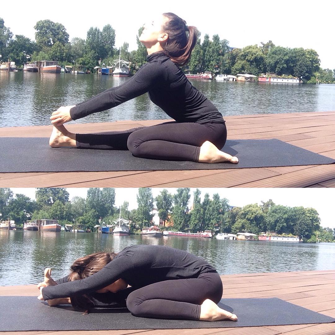 Preparatory Poses of Trianga Mukhaikapada Paschimottanasana