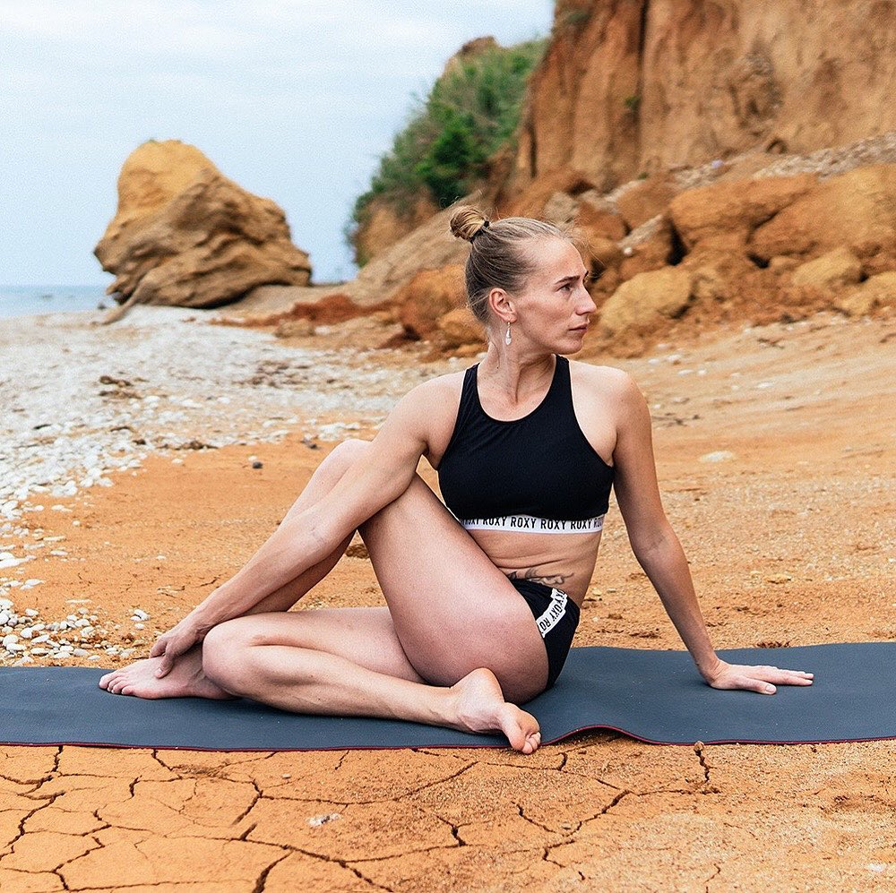 Ardha Matsyendrasana or Half Lord of the Fishes Pose/Half Spinal Twist Pose